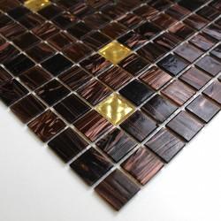 echantillon carrelage marron mosaique pate de verre modele mv-vog