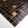 tile sample glass mosaic brown model mv-goldline-vog