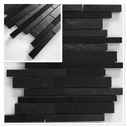 muestra azulejo caramica negro mosaico muro y pared ech-hooper