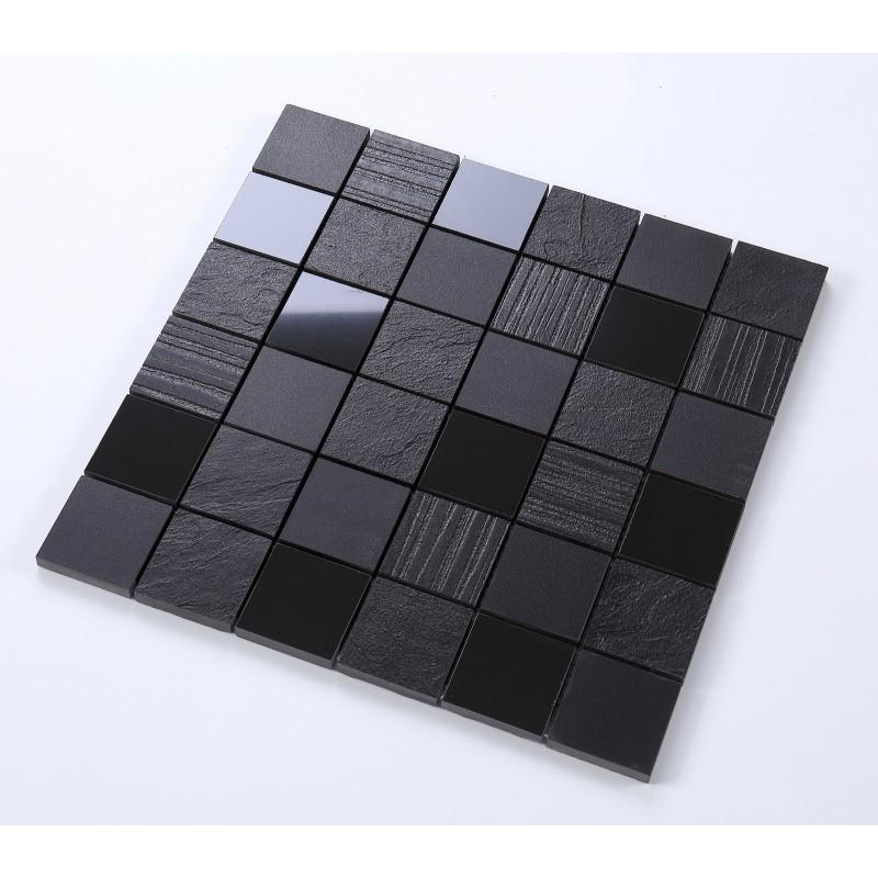 Mosaique En Ceramique carrelage mosaique en ceramique noire mur et sol mp-vitti