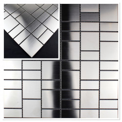 sample mosaic tile metal stainless argos