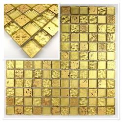 mosaique echantillon salle de bain modele vp-metallicgold