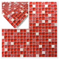 mosaique echantillon carrelage rouge modele vp-prado