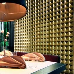 Azulejo baldosa metal mosaico muro modelo ramses-or