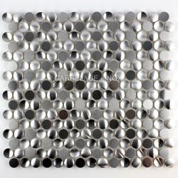 mallas mosaicos azulejos redondo acero modelo trigo