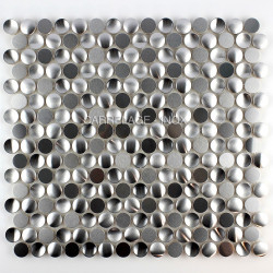 Mosaic wall round tile stainless model trigo
