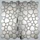 tile mosaic stainless steel floor shower bathroom galet japonais