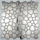tile mosaic stainless steel floor shower bathroom pebble Atoll