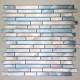 Mosaique aluminium mur fond de hotte blend-bleu