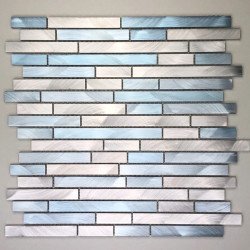 Mosaic aluminiumwall kitchen bathroom blend-bleu