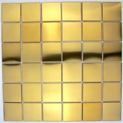 tile stainless steel mosaic stainless steel splashback kitchen regular 48 gold