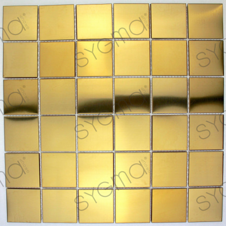 carrelage inox mosaique modele REGULAR48 GOLD