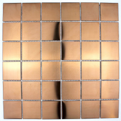 mosaic tile copper color wall kitchen backsplash reg48-cuivre