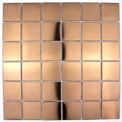 mosaic tile copper color wall kitchen backsplash reg48-cuivre