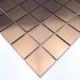 Malla Baldosa de acero inoxidable cobre para cocina o baño REG48-CUIVRE