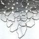 pebble tile stainless steel mosaic shower backsplash kolton
