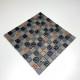 carrelage mosaique pour mur en verre et pierre metallic noir