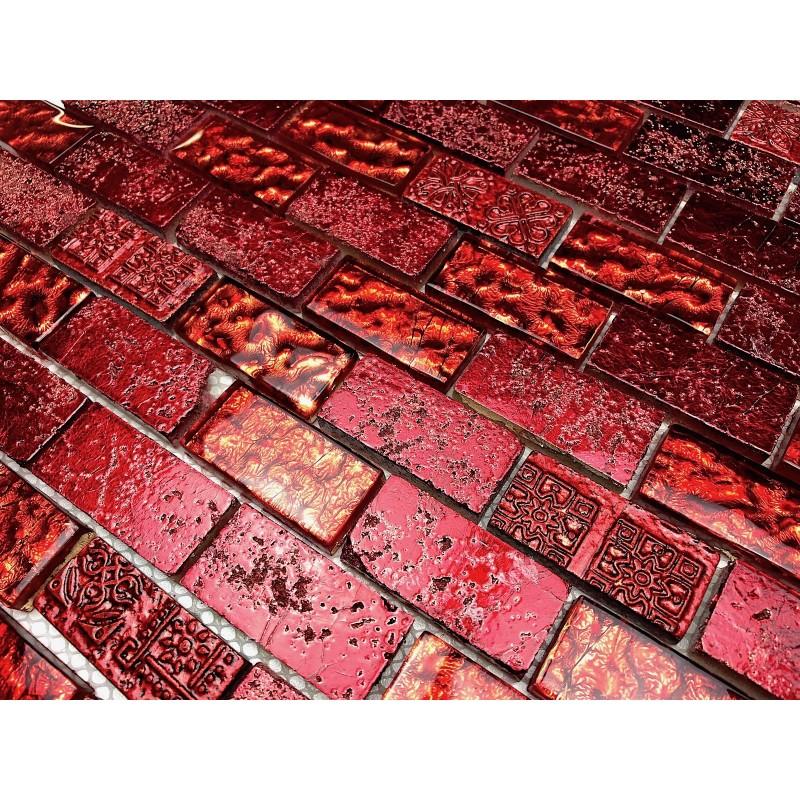 Carrelage mosaique mur salle de bain et douche mvp metalbr rouge carrelage - Mosaique et carrelage ...