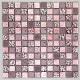 Stone and glass mosaic wall bathroom Alliage Rose