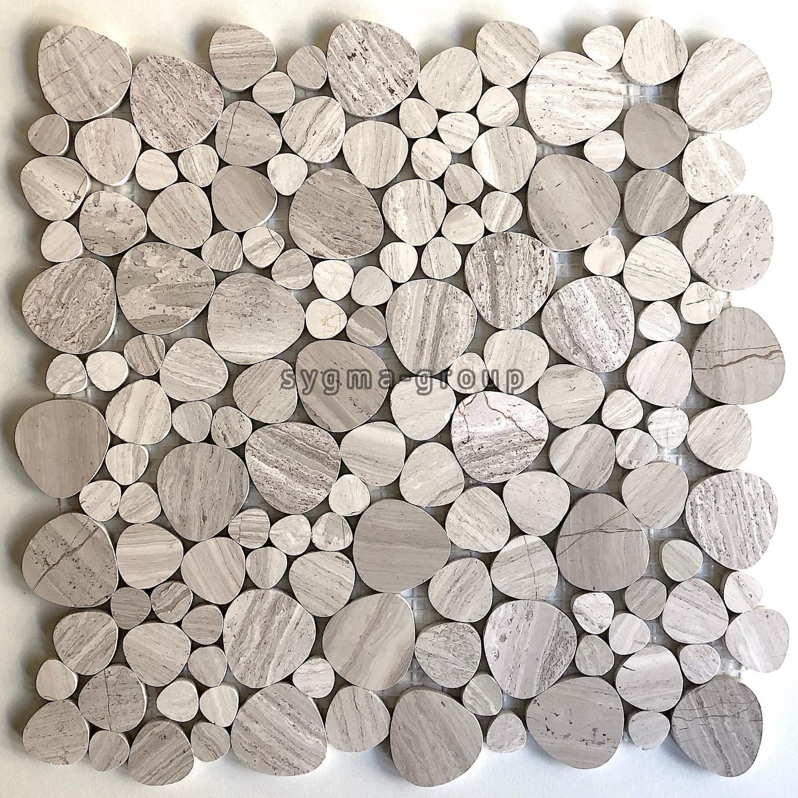 mosaique en pierre pour sol et mur salle de bain et douche galet neferti -  carrelage-inox.fr