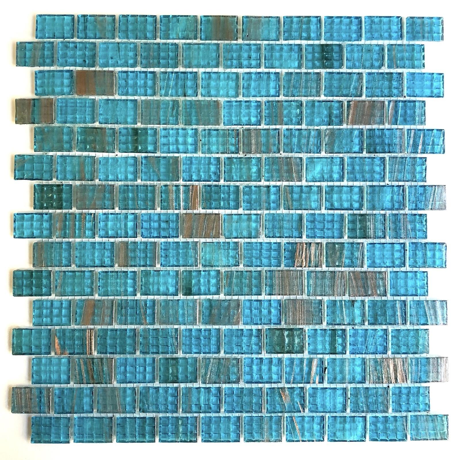 mosaique pate de verre bleu pour salle de bain et douche pdv ...