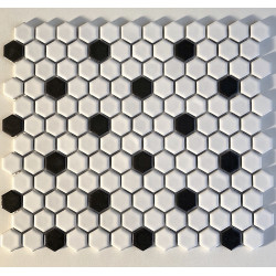 hexagonal ceramic mosaic for floor or wall mp-daven