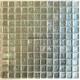 carrelage mosaique metalise argent salle de bain et mur cuisine hedra-argent