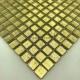 Mosaico azulejo de vidrio metalizada par pared modelo hedra-or