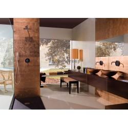 Azulejo de vidrio cobre muro cocina y bano Ankara Cuivre