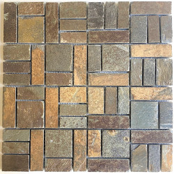 Slate tile wall and floor bathroom mosaic kitchen mp-kinoa
