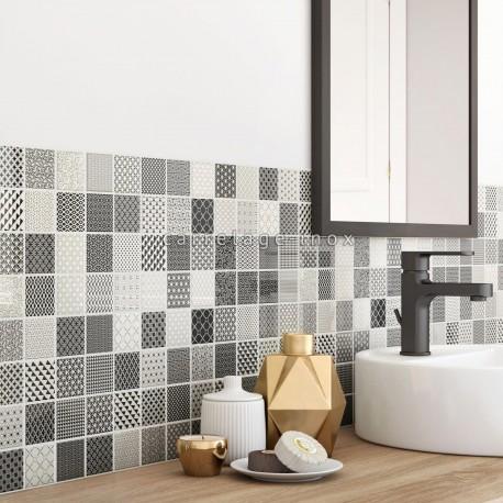 Mosaico muro pared azulejo de vidrio modelo mv-salax