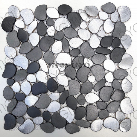 tile mosaic pebble aluminium kitchen and bathroom alu-oceo