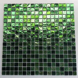 mosaico vidrio ducha cuarto de baño muro y suelo gloss vert