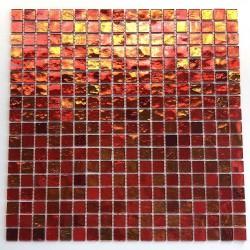 mosaico de vidrio baño y ducha gloss orange