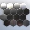 azulejo de acero hexagonal para cocina y bano Kiel