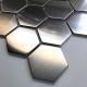 Hexagon brushed steel tile for wall kitchen Kiel