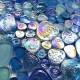 pebble mosaic floor shower bathroom Kashan