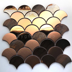 mosaic tile copper color wall kitchen backsplash Hoopa
