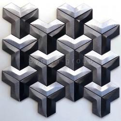 Mosaico de pared aluminio cocina y bano modelo Daasie
