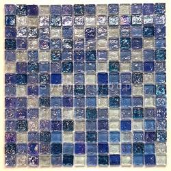 Malla azulejo de mosaico de vidrio pared cocina bano Arezo Cyan