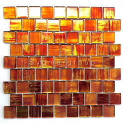 Mosaic wall bathroom and kitchen backsplash Drio orange