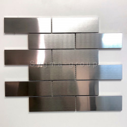 mosaic and tile wall stainless steel kitchen Brique 140