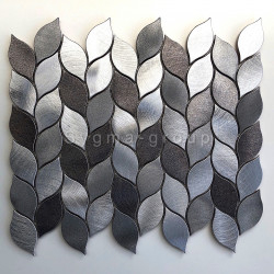 tile mosaic aluminium wall kitchen and bathroom Mood
