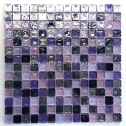 Tile mosaic glass backsplash kitchen bathroom Arezo Indigo