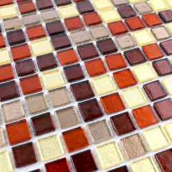 mosaique de verre carrelage vert sol et mur 1m Tuno