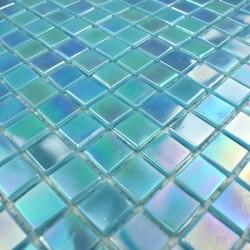 mosaique salle de bain pate de verre 1m Rainbow azur
