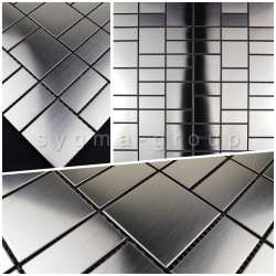 Mosaic sample tile metal stainless ARGO