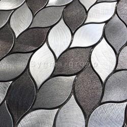 carrelage mosaique aluminium mur salle de bains et cuisine 1m MOOD