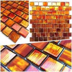 azulejo muestra mosaico vidrio bano y cocina drio orange