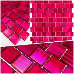 Malla azulejo muestra mosaico vidrio drio rose